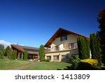 swiss style housing | Shutterstock . vector #1413809
