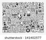doodle network element cartoon... | Shutterstock .eps vector #141402577