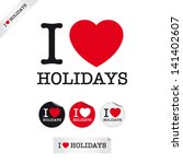 i love holidays  font type with ... | Shutterstock .eps vector #141402607