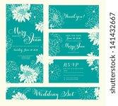 wedding invitation  thank you... | Shutterstock .eps vector #141432667