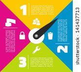 colorful flat infographic with...