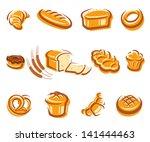 bread set. vector   Shutterstock .eps vector #141444463