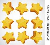 golden star set. different...