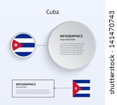 cuba country set of banners on...