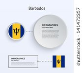 barbados country set of banners ...