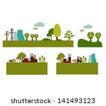 environmental care icons  ... | Shutterstock .eps vector #141493123