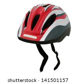bicycle helmet isolated on white   Shutterstock . vector #141501157