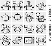 cooking instruction vector icon ... | Shutterstock .eps vector #141506647
