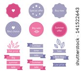 summer pink and purple sale... | Shutterstock .eps vector #141522643