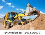 wheel loader excavator... | Shutterstock . vector #141530473