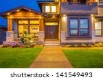 entrance of a house at dusk in... | Shutterstock . vector #141549493