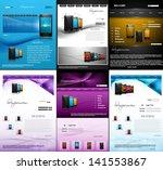 website template mobile phone... | Shutterstock .eps vector #141553867