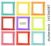 9 Wooden Square Picture Frames...