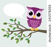 Cute Baby Owl Sitting On A...