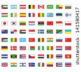 collection of flags. vector... | Shutterstock .eps vector #141580417