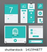 vector set of various elements... | Shutterstock .eps vector #141594877