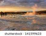 Steam Rising From The Firehole...