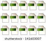 digital file format icons. 15... | Shutterstock .eps vector #141603007