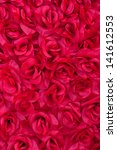 Stock photo background of artificial rose petals 141612553