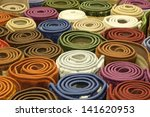 colorful carpets in the store | Shutterstock . vector #141620953