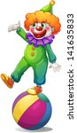 illustration of a clown...