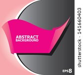 abstract black and pink modern... | Shutterstock .eps vector #141660403