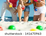 group of young people playing... | Shutterstock . vector #141670963
