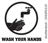 wash your hands symbol | Shutterstock .eps vector #141692113