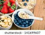 fresh blueberry  strawberry and ... | Shutterstock . vector #141699607