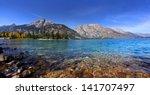 Scenic Jenny Lake In Grand...