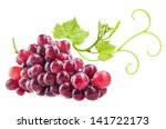 red grape with green leaves ... | Shutterstock . vector #141722173