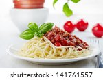 Spaghetti Bolognese And Green...