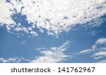 beautiful cloud on blue sky... | Shutterstock . vector #141762967