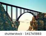 steel frame bridge construction ... | Shutterstock . vector #141765883