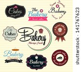 retro bakery badges and labels. ... | Shutterstock .eps vector #141767623