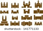 Castle icons - stock vector