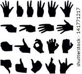 Hand Collection   Vector...