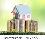 mortgage concept by money house ...   Shutterstock . vector #141772723