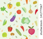 vegetables seamless pattern... | Shutterstock .eps vector #141777067