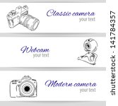 set with camera on banners | Shutterstock .eps vector #141784357