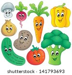 vegetable theme collection 4  ... | Shutterstock .eps vector #141793693