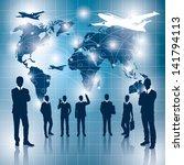 travel concept. vector business ... | Shutterstock .eps vector #141794113