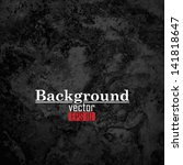 black marble stone | Shutterstock .eps vector #141818647