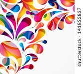 rounded colorful arc drops.... | Shutterstock . vector #141832837