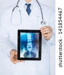 close up of male doctor holding ... | Shutterstock . vector #141854467