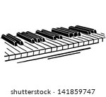 Piano Keys   Retro Clip Art...