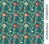 seamless floral pattern   Shutterstock .eps vector #141860323