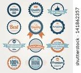 collection of retro premium... | Shutterstock .eps vector #141862357