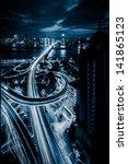 traffic on junction in city   Shutterstock . vector #141865123