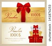 voucher  gift certificate ... | Shutterstock .eps vector #141876253